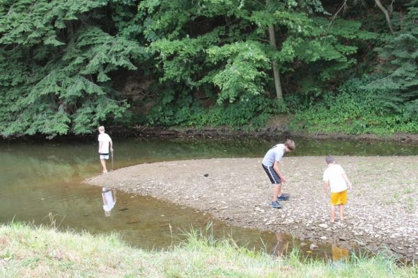 Making memories with children at the river